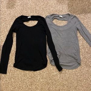 Victoria's Secret Pink Cut Out Long Sleeve Tee